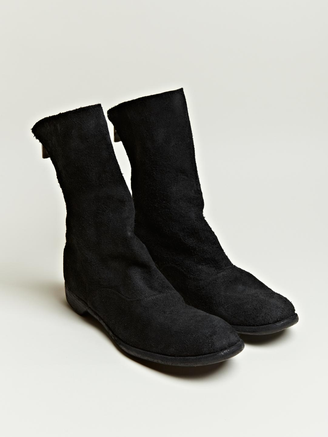 GUIDI REVERSE LEATHER BOOTS