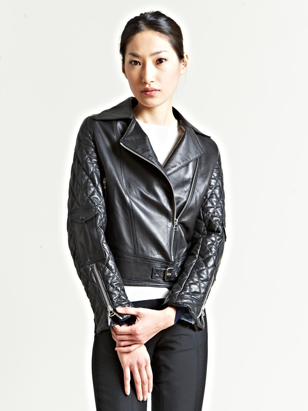 Lyst - J.W.Anderson Quilted Nappa Leather Biker Jacket in Blue