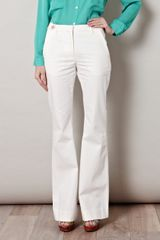 L'Agence Flared Denim Trousers - Lyst