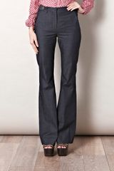 L'agence Flared Denim Trousers in Blue (denim) - Lyst