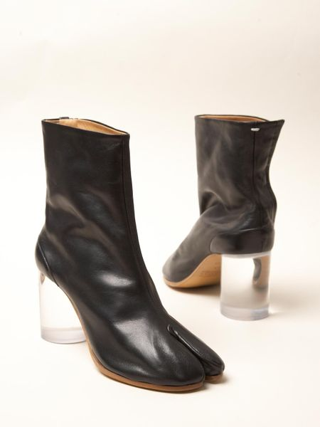 Maison Margiela 22 Womens Split Toe Boots In Black Lyst