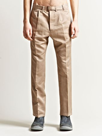 Maison Martin Margiela 10 Mens Bronze Buckled Trousers - Lyst