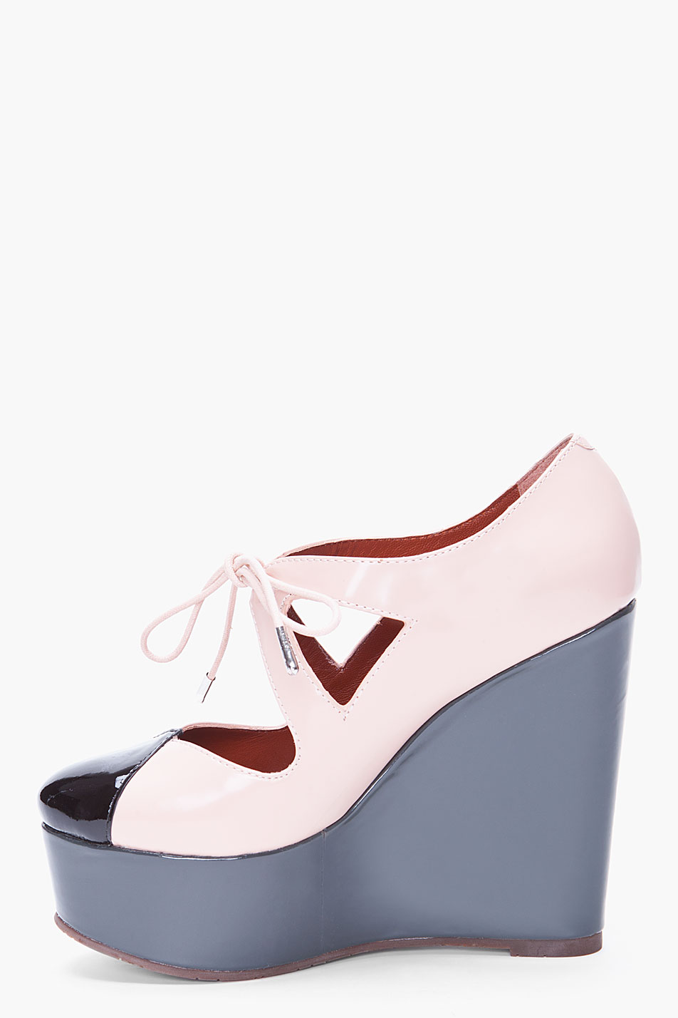 Pink Patent Leather Court Shoes