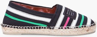 Marc By Marc Jacobs Striped Textile Espadrilles Flats - Lyst