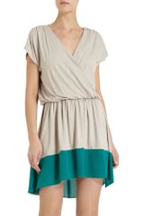 Mason by Michelle Mason Contrast Hem Dress - Lyst