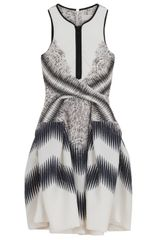 Peter Pilotto Full Skirt Dress in White - Lyst