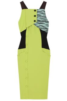 Proenza Schouler Colour Block Button Dress - Lyst