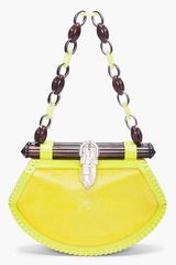 Proenza Schouler Tiki Clutch Stingray in Yellow (green) - Lyst