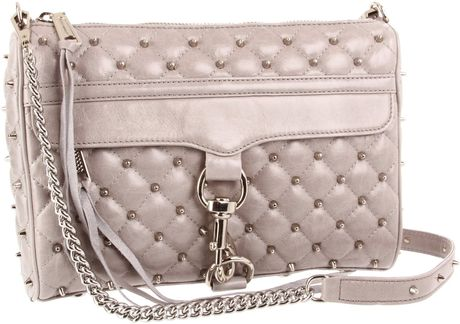 Rebecca Minkoff Mac Stud Clutch in Gray (grey) - Lyst