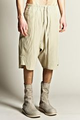 Rick Owens Mens Basket Swinger Drop Crotch Striped Shorts in Beige for Men (vanilla) - Lyst