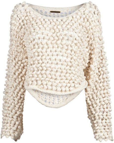 Society For Rational Dress Hand Knit Pullover in White (ivory) - Lyst