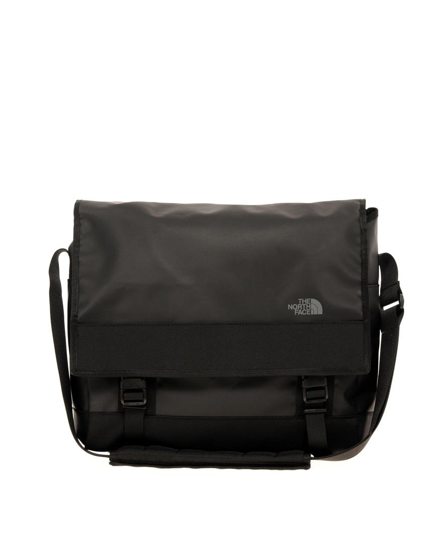 the north face base camp messenger bag in black for men lyst. Black Bedroom Furniture Sets. Home Design Ideas