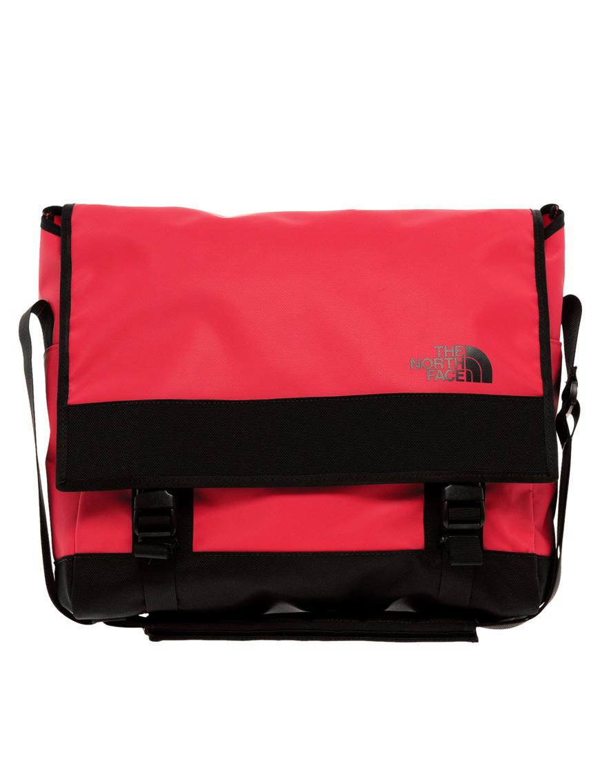 lyst the north face base camp messenger bag in red for men. Black Bedroom Furniture Sets. Home Design Ideas