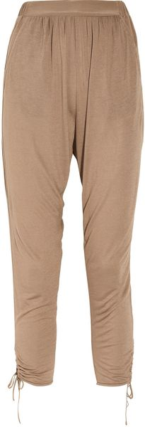 Tibi Jersey Harem Pants in Brown (taupe) - Lyst