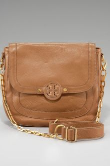 Tory Burch Amanda Pebbled Messenger - Lyst