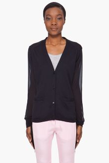 3.1 Phillip Lim Silk Blend Chiffon Back Cardigan - Lyst