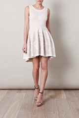 Alexander Mcqueen Barnacle Jacquard Knitted Dress in Beige (white) - Lyst