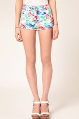ASOS Collection High Waisted Denim Knicker Shorts  - Lyst