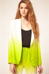 Asos Ombre Blazer in Yellow (ivorygreen) - Lyst