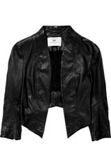 Day Birger Et Mikkelsen Cropped Leather Jacket - Lyst