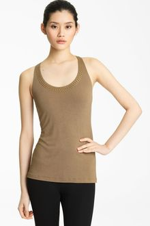 Donna Karan New York Collection Studded Racerback Tank - Lyst