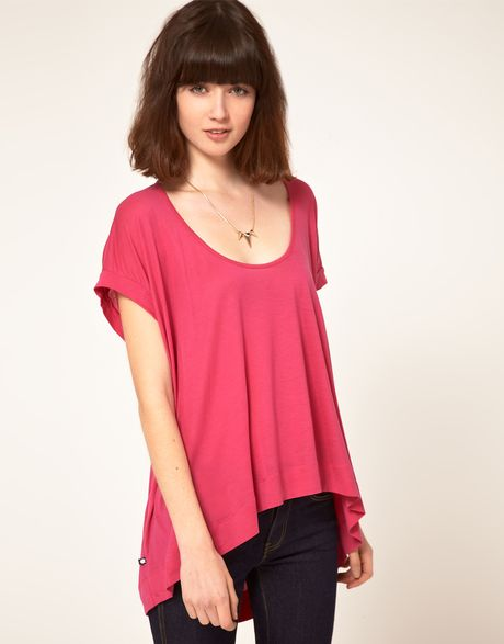 Dr. Denim Dr Denim Relaxed Tshirt in Pink - Lyst