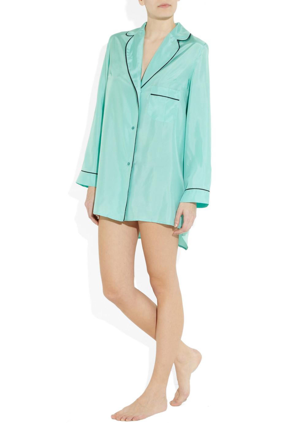 509501b51a Lyst - Marni Oversized Silk Pajama Shirt in Blue