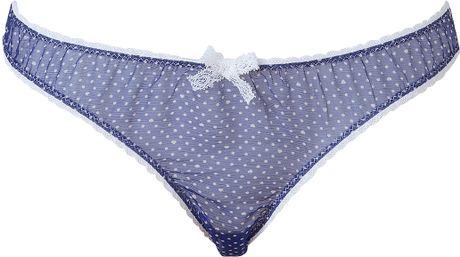 Mimi Holliday Blue Lagoon Silk Chiffon Panty in Blue - Lyst