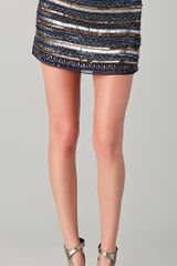Parker Tribal Beaded Skirt in Blue (navy) - Lyst
