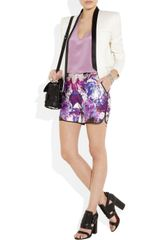 Prabal Gurung Printed Wool and Silkblend Shorts in Multicolor (multicolored) - Lyst