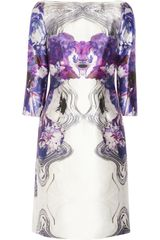 Prabal Gurung Printed Wool and Silkblend Dress - Lyst