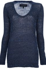Rag & Bone Bridgetpul Sweater in Blue - Lyst