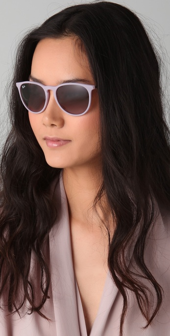 0389b3c18e0 ... discount code for lyst ray ban youngster erika wayfarers in pink 59fb5  07545