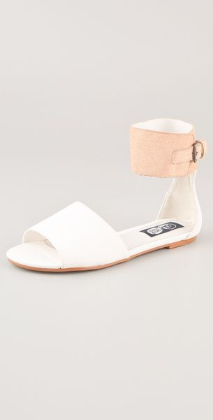 Cheap Monday Saviour Sinaii Flat Sandals in White (tan) - Lyst