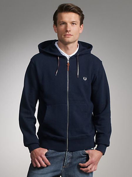 Fred Perry Zip Hoodie in Blue for Men (navy) | Lyst