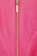 Giorgio Armani Ribbed Linen and Silkblend Top in Pink - Lyst