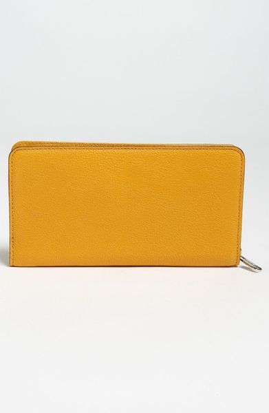 Michael Michael Kors Hamilton Zip Around Wallet In Yellow