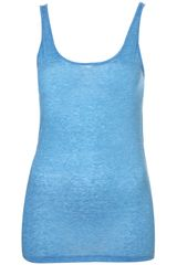 Topshop Basic Scoop Neck Vest - Lyst