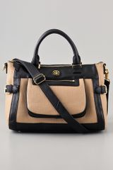 Tory Burch Carlin Small Satchel - Lyst