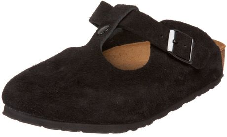 Birkenstock Womens Bern Soft Footbed Clog in Black (black suede) - Lyst