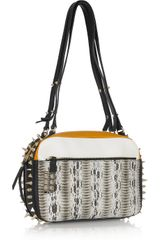 Christian Louboutin Roxane Studded Snake Shoulder Bag in Multicolor (snake) - Lyst