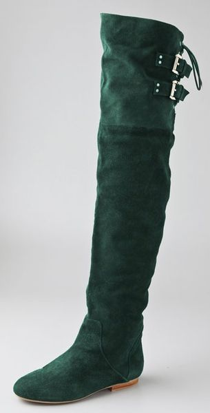 Jeffrey Campbell Lubbock Suede Over The Knee Boots In