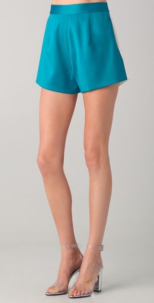 Katie Ermilio Reversible Colorblock Shorts - Lyst