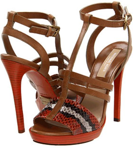 Michael Kors Snake print strap sandal in Brown (2) - Lyst