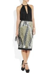 Sonia Rykiel Sequined Skirt in Black (silver) - Lyst