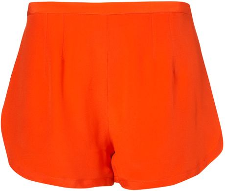 Topshop Sporty Silk Shorts By Boutique in Red - Lyst