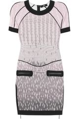 Versus  Printed Stretchjersey Dress - Lyst