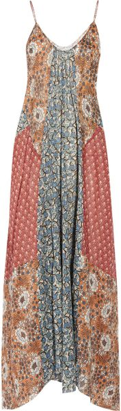 Zimmermann Collector Printed Cotton Maxi Dress in Blue (multicolored) - Lyst