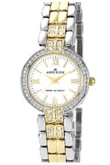 Ak Anne Klein Crystal Two Tone Bracelet Watch - Lyst