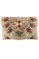 Anya Hindmarch Straw Ipanema Clutch - Lyst